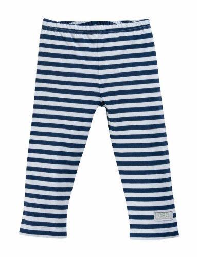 Cotton People organic Baby - Jungen Legging, gestreift Leggings aus 100% Bio-Baumwolle J13, Gr. 68 (4-6 m), Blau (Ringel marine-hellblau)