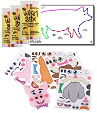 Farm Animal Stickers & Wikki Stix Party Favor Pack – 24 Pc (12 Make-a-Farm Animal Sticker Sheets &…