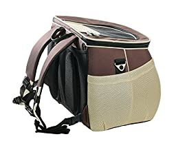 One for Pets The EVA Pet Carrier Backpack, Large, Brown