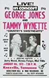 George Jones - Tammy Wynette, Jerry Reed, Donna Fargo, Mel Tillis Concert Poster (1973) Bergstrom Hall Knoxville, TN (14 x 22 Inches - 36cm x 56cm)