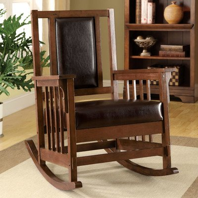 Hokku Designs Valley Leatherette Arm Chair front-94371