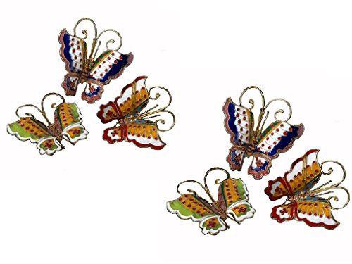CLOISONNE BUTTERFLY ORNAMENTS