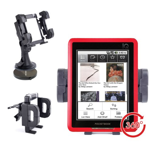 DURAGADGET Windscreen & Air Vent Mount For PocketBook Pro 603, IQ 701, 360° With Non-Slip Design at Electronic-Readers.com