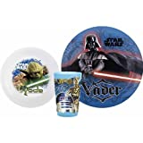 Zak Star Wars Plate, Bowl, Tumbler Mealtime Gift Set 3 Pieces