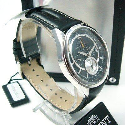 ORIENT Alarm Chronograph Tachymeter LEDER Herrenuhr Datum CTD0T002B