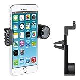 kwmobile Support ventilation pour Apple iPhone 6 / 6S / 7 - Support automobile pour fente d'aération en noir...