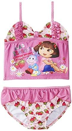 Dreamwave Little Girls'  Dora 2 Piece, Multi, 2T