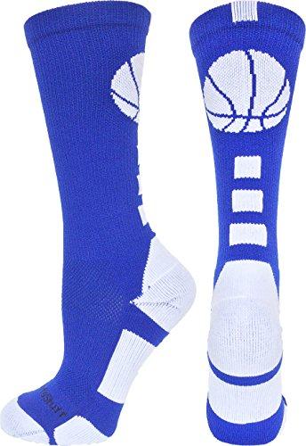Basketball Logo Crew Socks (Royal/White, Medium) (Basketball Clothing compare prices)