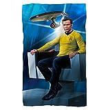 Star Trek 1960's Sci-Fi Action Adventure TV Series Kirk's Chair Fleece Blanket