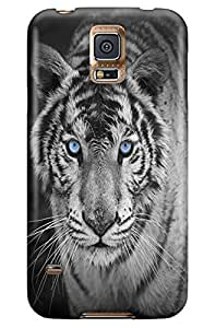 GeekCases Blue Eyes-Tiger Back Case for Samsung Galaxy S5