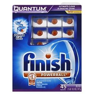 Finish Quantum Dishwasher Detergent, 45-Count
