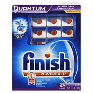 Finish Quantum Dishwasher Detergent, 45-Count