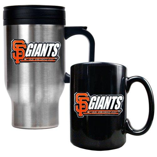 San Francisco Giants Mlb Travel Mug & Ceramic Mug Set