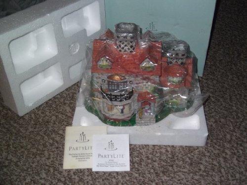 THE BRISTOL HOUSE ~ Partylite Third Edition Old World Village Porcelain Tealight house