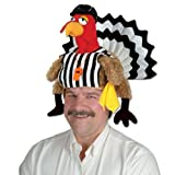 Plush Referee Turkey Hat Party Accessory (1 count) (1/Pkg)