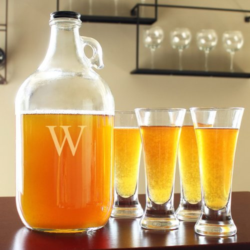 Personalized Craft Beer Growler and Tasters Set