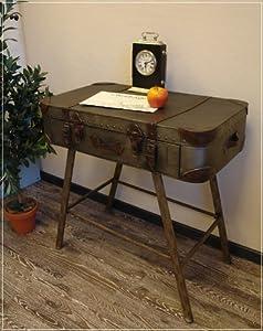 konsole koffer aus metall mit einer schublade k che haushalt. Black Bedroom Furniture Sets. Home Design Ideas