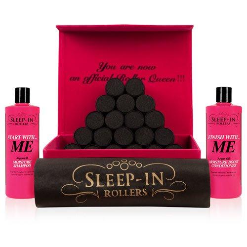 Sleep-in rulli di lusso Cura dei capelli Gift Set Black