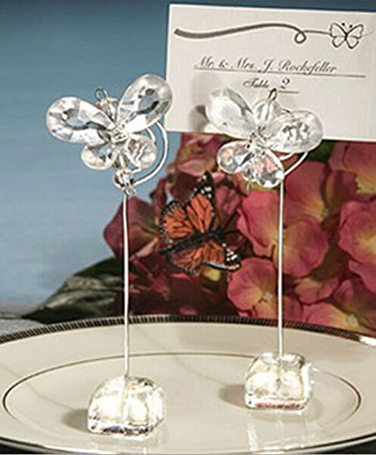 Crystal Butterfly Place Card/Photo Holders Baby Shower Gifts & Wedding Favors, 54