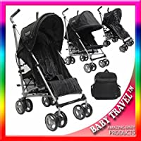 ZETA VOOOM - BLACK + Changing Bag + Footmuff + Raincover from BABY TRAVEL®