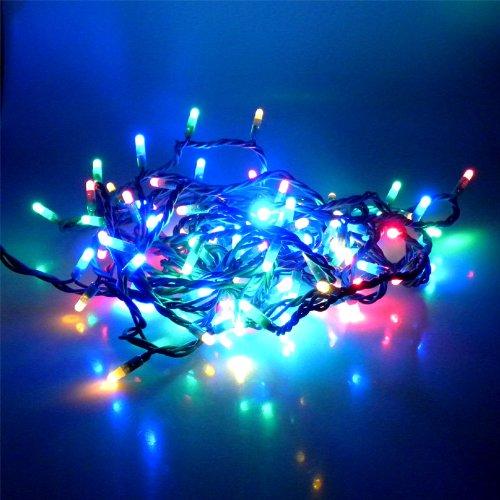 100 LED Lichterkette 10m MULTI 8 Programme aussen