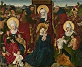 High Quality Polyster Canvas ,the Amazing Art Decorative Canvas Prints Of Oil Painting 'Holy Kinship By Derick Baegert. 15th Century', 10x12 Inch / 25x31 Cm Is Best For Bathroom Gallery Art And Home Gallery Art And Gifts