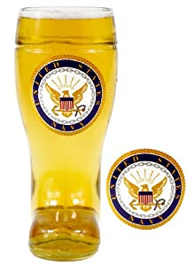 1 Liter United States Navy Glass Beer Boot