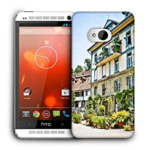 Snoogg Abstract Nice Building Printed Protective Phone Back Case Cover For HTC One M7