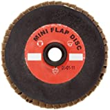 Merit Mini Powerflex Abrasive Flap Disc, Type 27, Metal Hub Quick Change (Asymmetrical), Fiber Backing, Zirconia Alumina