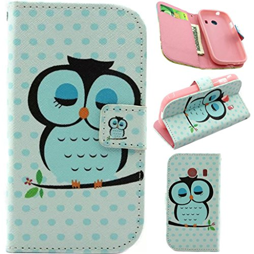 Galaxy Ace Style Case,G310 Case ,Enjoy Sunlight [Kickstand Feature] Luxury Wallet PU Leather Folio Wallet Flip Case Cover Built-in Card Slots for Samsung Galaxy Ace Style S765C / SM-G310 Case(Sleeping Owl) with 1 Stylus Pen (Galaxy Ace Kickstand Cases compare prices)