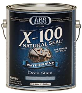 X-100 Natural Seal - Waterborne Deck Stain, 5 Gallon ...