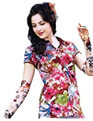 Exotic India Pink And Brown Shirt With Digital-Printed Flowers - Pink
