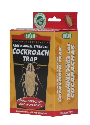 Biocare Extra-large Professional Strength Cockroach Trap - 6 Long Lasting Traps - Non Toxic
