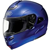 Shoei Metallic Multitec Street Racing Motorcycle Helmet - Royal Blue / X-Large