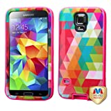 Kaleidoscope-Spring/Electric Pink VERGE Hybrid Case Cover For SAMSUNG Galaxy S5 MYBAT