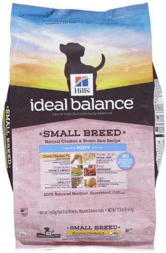 Hill'S Ideal Balance Small Breed Natural Chicken & Brown Rice Recipe Puppy Dry Dog Food, 12.5-Pound