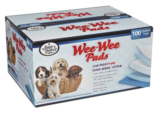 Four Paws Wee-Wee Puppy Housebreaking Pads, 100-Pack Box front-115479