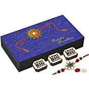 Rakhi Gifts - 6 Chocolate Gift Box - Rakhi With Chocolates
