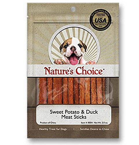 Nature's Choice Sweet Potato & Duck Soft Chew Meat Sticks contains Glucosamine & Chondroitin for Hip & Joint Health 2oz (Loving Pets Meat Sticks compare prices)