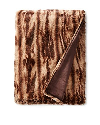 Fabulous Furs Couture Edition Faux Fur Throw, Chestnut Mink