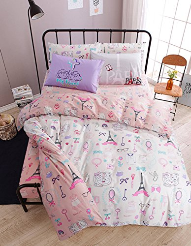 Girls Eiffel Tower Bedding