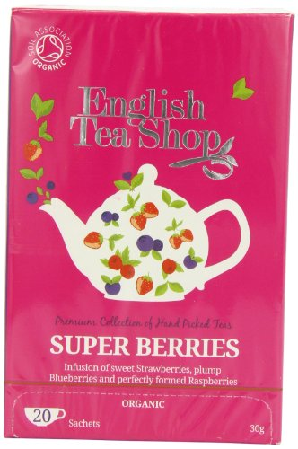 English Tea Shop Super Berries Organic 20 Sachet Tea Bags  (Pack of 3)