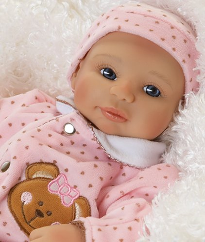 Teddy Bear Twin Abigail, Newborn Baby Doll, 16
