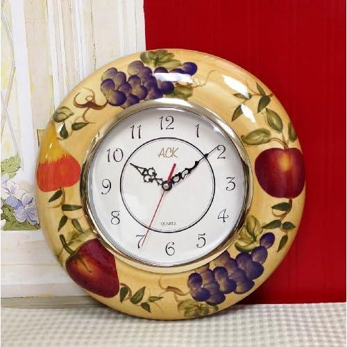 Amazon.com - Tuscan European Fruits Wall Clock Grape Pear