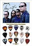Metallica Design A Gold Gitarre Pick Plektron Display (Limited to 50)