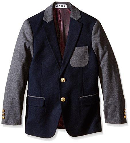 Isaac Mizrahi Big Boys' Color Block Blazer, Navy, 14