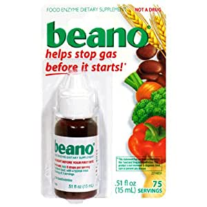 Beano Food Enzyme Dietary Supplement, Drops .51 fl oz (15 ml) � (Discontiued by MFG 2004)