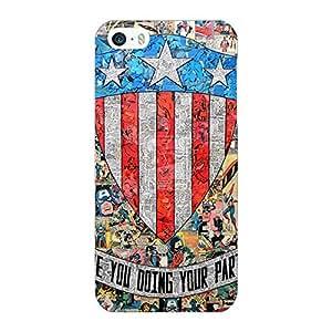 Jugaaduu Superheroes Captain America Back Cover Case For Apple iPhone 5c