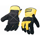 Dewalt DPG41 Large Premium Cowhide Leather Work Glove with Reinforced Palm And Wing Thumb and Safety Cuff
