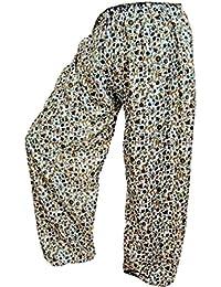 Rajsthani Mandala Hand Block Print Peacock Alibaba Afghani Trouser - B06XYSKY3K